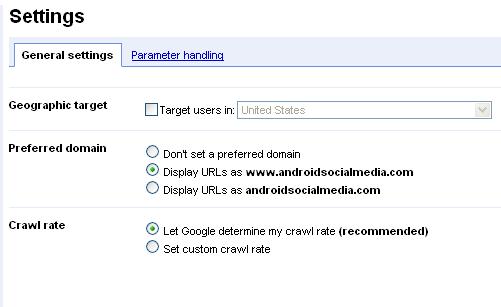 google primary domain